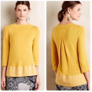 Anthropologie | Angel of the North Yellow Sweater